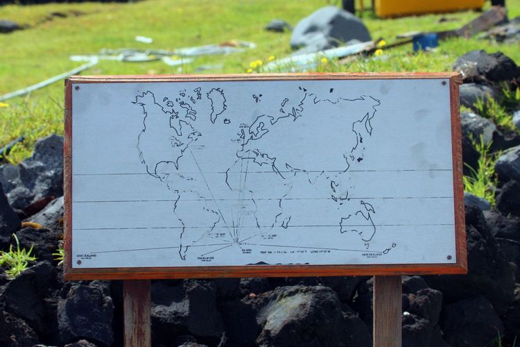 Map Tristan Da Cunha Communication Day Info Board Location Map Message Most Remote Island In The World No People Outdoors Text Tristan Da Cunha Island