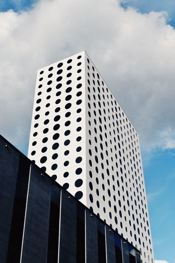 Sky Cloud - Sky Low Angle View Architecture Built Structure Building Exterior Day No People Building City Pattern Outdoors Office Building Exterior Tall - High Modern