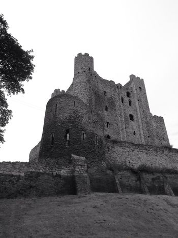 Close-up Medieval Famous Place Rochester Castle Rochester, Kent Tourism The Past Blackandwhite Photography