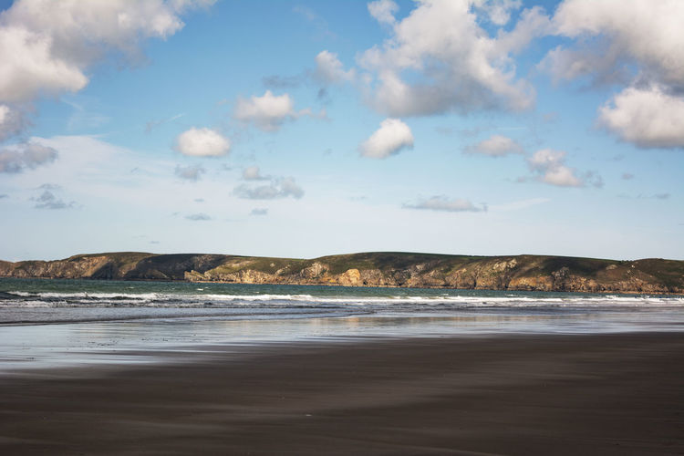 Beautiful Newgale Newgale Beach Beauty In Nature Day Land Nature Outdoors Pembrokeshire Pembrokeshire Coast Scenics - Nature Sea Sky Tranquil Scene Tranquility Water