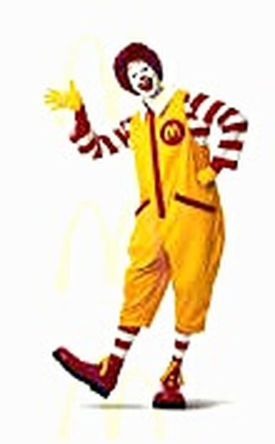 Redhead RonnieMcDonald One Person Sign Advertising Commercial Signs ™ Clown Trademark Clown Trademark™ Macca's Familiar Faces Ronald McDonald Mc Donalds Maccas McDonald's Signs Golden Arches Mickey Ds Mickey D's I'm Lovin' It ® McDonald's Mcdonalds I'm Lovin' It Macdonalds The Face Of McDonald's Ronnie McDonald I'm Loving It RonaldMcDonald McDonald's International
