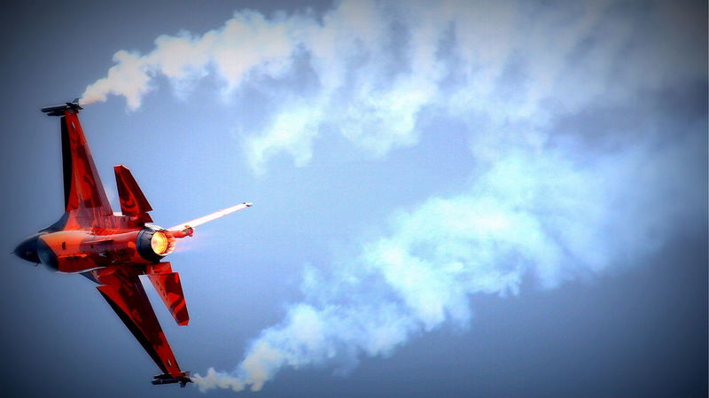 Afterburn Airforce Airplane Cloud Cloud - Sky Cloudy Day F16 F16fightingfalcon Fighting For Freedom Freedom Low Angle View Military Nature No People Orange Outdoors Power Powershot Sky Smoke Smoke - Physical Structure Fighter Jet