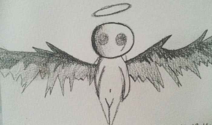 Angel 😇 Ange Dessin Crayon Creativité S'évader Black And White