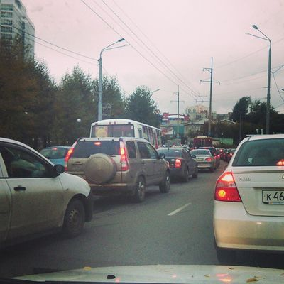 Пробки не хуже Новосиба