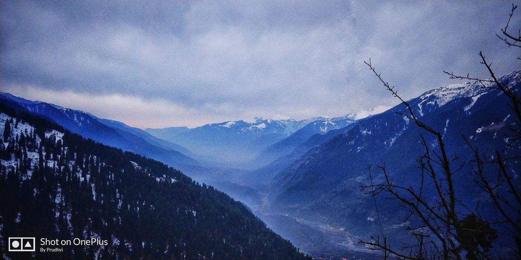 Hampta pass view 🗻 🌨 Mountain Tree Blue Sky