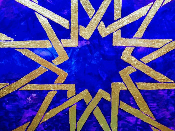 art detail Blue Gold Gold Colored Geometry Pattern Geometry Art Detail Detail Art Blue Close-up Architecture Girder Electrical Grid Surreal Pattern Textured  Mysterious Surrealism Gateway Symmetry Geometric Shape