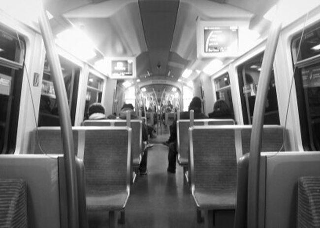 Behaving like Tourists. Public Transportation in Hamburg is so Awesome. Monochrome Subway Having Fun Quality Time Taking Photos