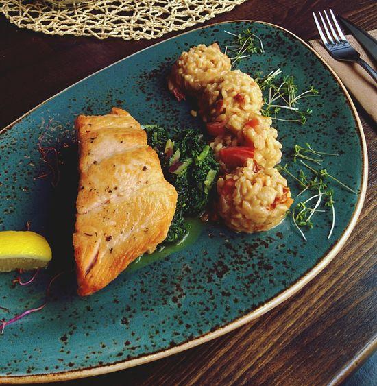 Lachs mit Tomaten - Risotto. Freitag ist Fischtag! ?