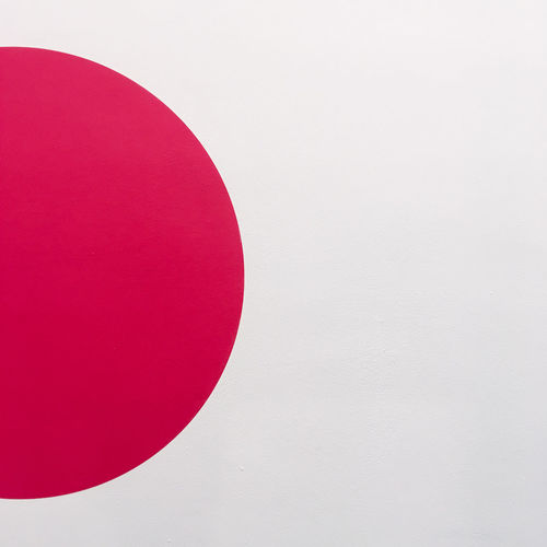 Architecture Circle Close-up Design Geometric Shape Indoors  No People Pattern Pink Color Red Shape Still Life Wall - Building Feature White Background