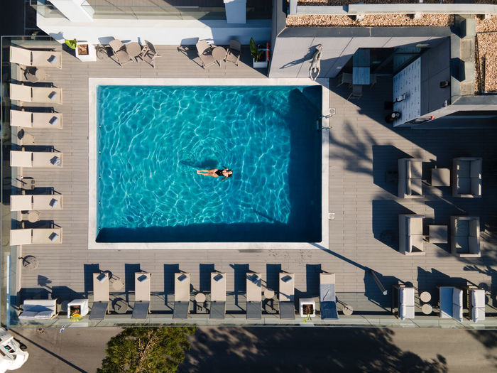 View of swimming pool in building