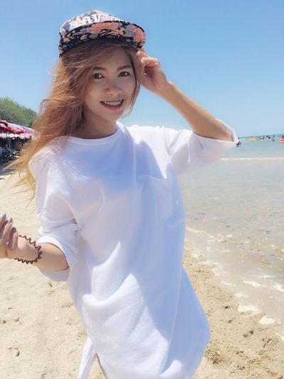おはようございます☀️埋めに行きます おはよう うめ 私 行きます Beauty Beach Outdoors Happiness Day Smiling Sea Nayne12 Time