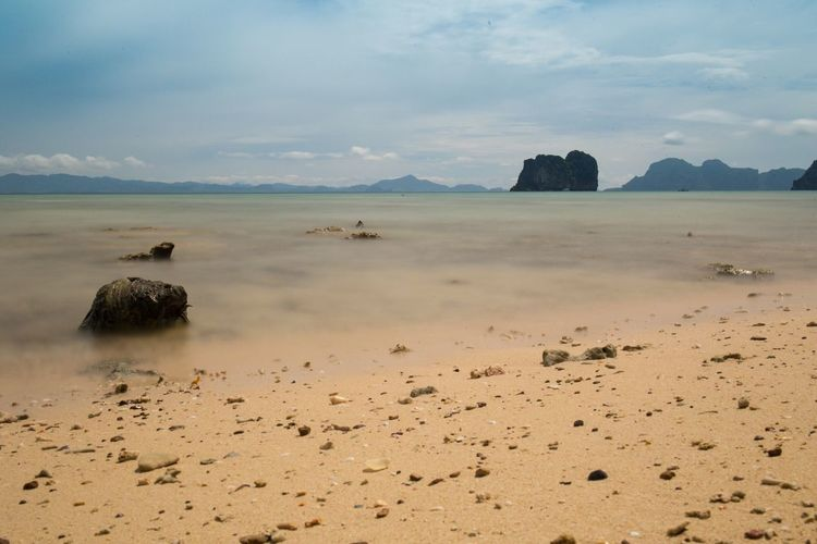 Nature Sand Sky Scenics Tranquil Scene Sea Horizon Over Water No People Water Thailand Soft Water Enjoying Life Traveling Relaxing Vacation Islandlife Thailand_allshots Thailandtravel Koh Ngai Koh Hai Thailand Photos Thaitraveling