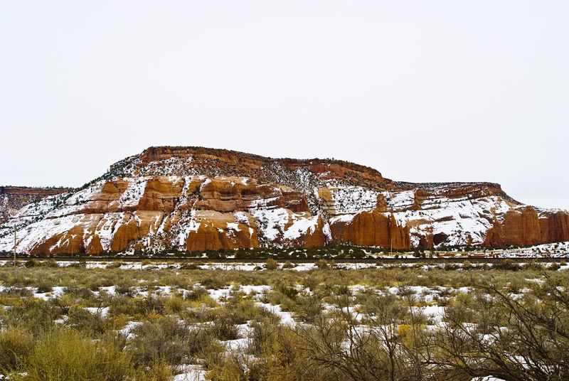 """""""Painted Cliffs In Snow"""" The beautiful Painted Cliffs on the Arizona/New Mexico, USA border with a coating of Winter Snow. Redmountains Mountains Snow Landscapes Navajo Nation Arizona Newmexico Winter"""