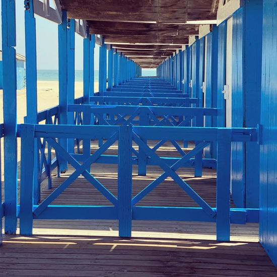 Sea Huts Seaside View Seaside Beach Beach Huts Blue No People Architecture Wood - Material Empty Absence Built Structure Pattern