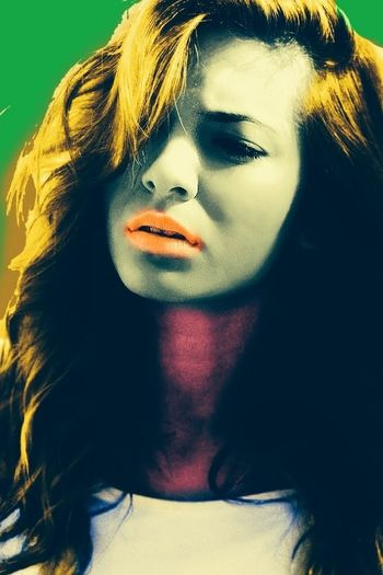 My First Pop art picture Model Girl Popart Art