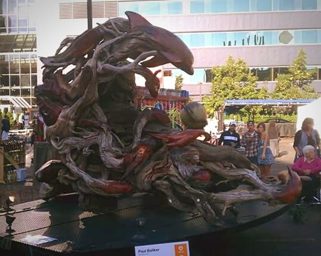Sculpture Animal Representation Architecture Travel Destinations Outdoors Day Art Artprize Built Structure Arts Culture And Entertainment ArtWork Grand Rapids Michigan