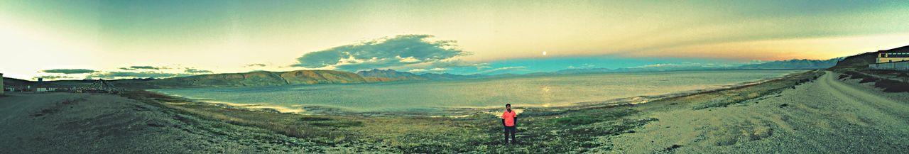 Hello World OpenEdit Eye4photography  Himalayas Mt.kailash Lakeside Mountains Full Moon Tibet Landscape