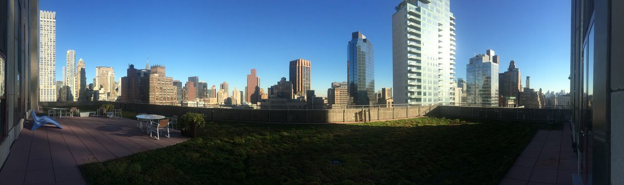 NYC Terrace Panorama Skyline Skyscrapers Highrises New York City 360 Panorama