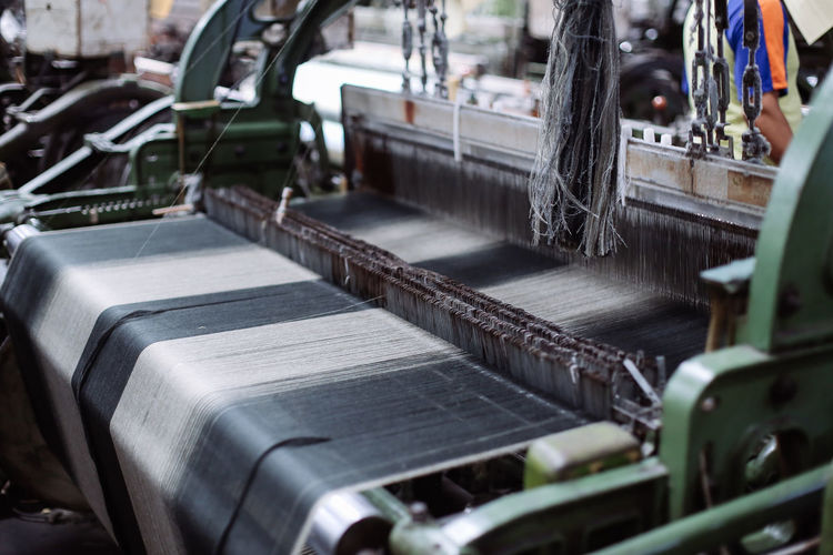 Close-up of machinery in factory
