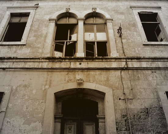 Old House Blackandwhite Black & White Black&white Arcitecture Built Structure Architecture Building Exterior Window Low Angle View No People Building Day Old Wall History City Abandoned The Past Outdoors