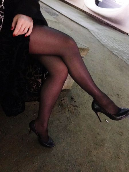 Human Leg Real People One Person High Heels Stockings Low Section Women