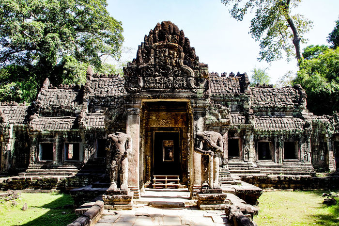 One of the many temple's in Ankor Thom, Cambodia. Ankor Thom Temple Architecture Temple King - Royal Person Ancient Civilization Place Of Worship History Religion Tree Spirituality Architecture Sky Building Exterior Civilization Historic Archaeology Statue Visual Creativity Adventures In The City