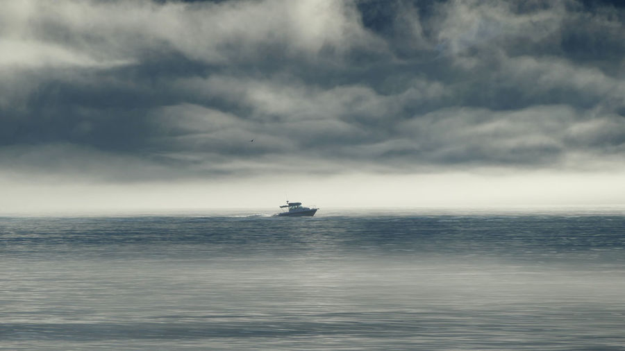 Little boat in the clouds - Alaska Sea Cloud - Sky Sky Horizon Water Scenics - Nature Beauty In Nature Nature Ship Alaska Seward Alaska Clouds Clouds And Sky Mountain Mountain Range Mystery Senic Adventure Into The Wild