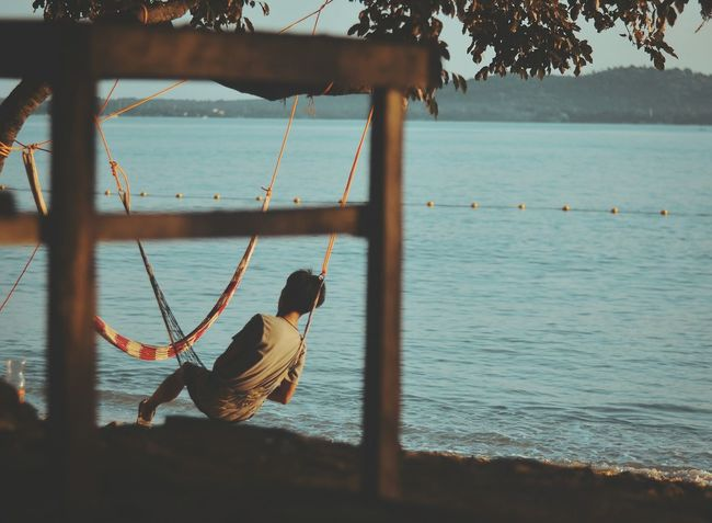 chillin' Sea Water Beach Nautical Vessel Nature Sky Outdoors Tranquility Hanging Day Scenics Horizon Over Water Beauty In Nature No People EyeEm Gallery EyeEmNewHere EyeEm Best Shots Manila Philippines Travel Destinations History Lifestyles One Person Real People One Man Only