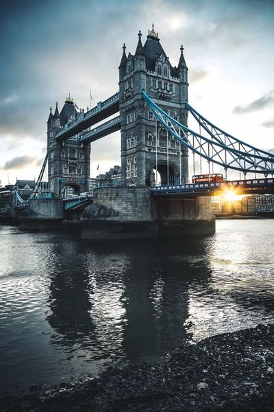 Tower Bridge England London Water Built Structure Architecture Sky Transportation Bridge Cloud - Sky Bridge - Man Made Structure Connection River Waterfront Building Exterior Nature Engineering Travel Destinations Travel City Outdoors