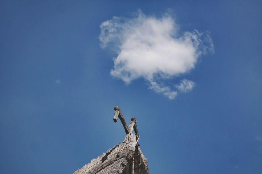 Pfahlbauten Cloud - Sky Clouds And Sky Blue Pfahlbauten Pfahlbautenmuseum Bodensee Vacations Blue Sky Cloud - Sky