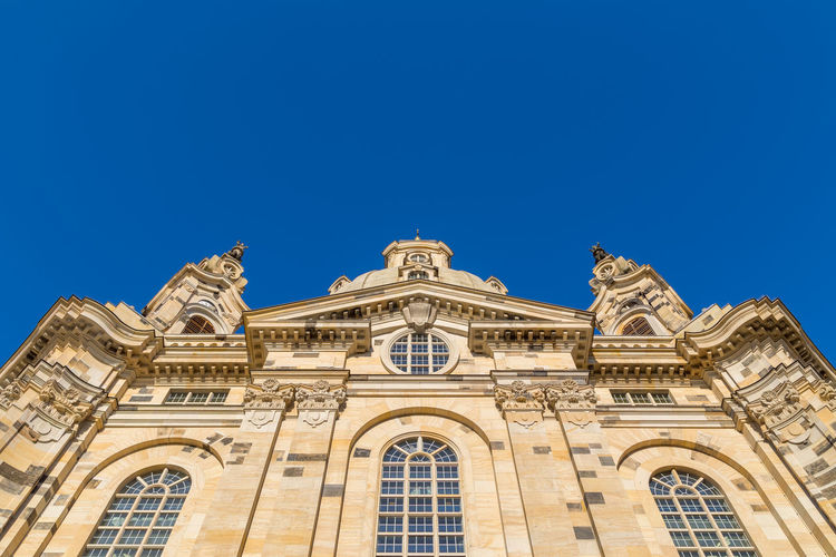 Frauenkirche Dresden Architecture Blue Building Exterior Built Structure Clear Sky Day Façade Low Angle View No People Outdoors Sky Window