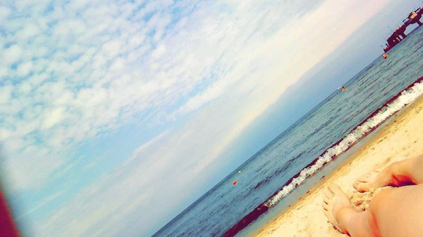 Polish Sea Relaxing Legs Summer Holidays 2014 :)