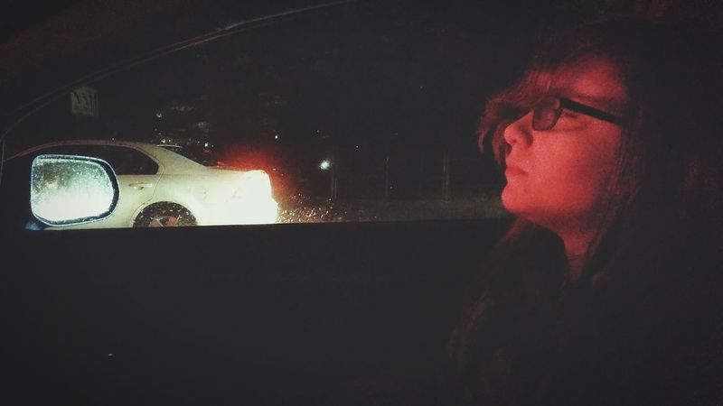 co-pilot. Night Night Lights Travel Transportation Adventure Girl Portrait Night Photography Showing Imperfection Human Meets Technology Cities At Night My Commute The Portraitist - 2016 EyeEm Awards