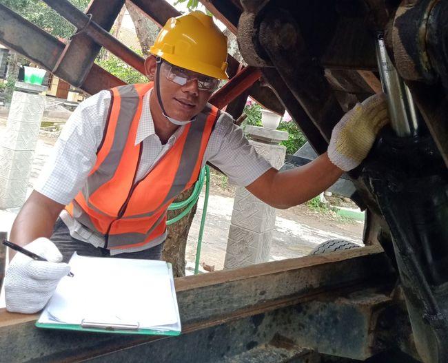 Portrait of man working