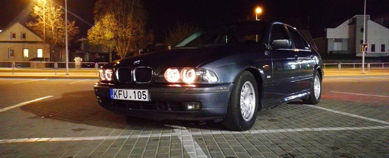 BMW e39 530 Bmw E39 530 City Illuminated Car Street