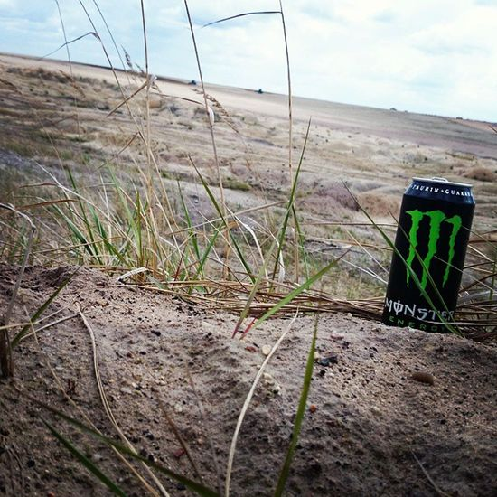 Just chillin'.... Monster Monsterenergy Lecker Welzow süd tagebau probraunkohle bagger sand roadtrip runterkommen