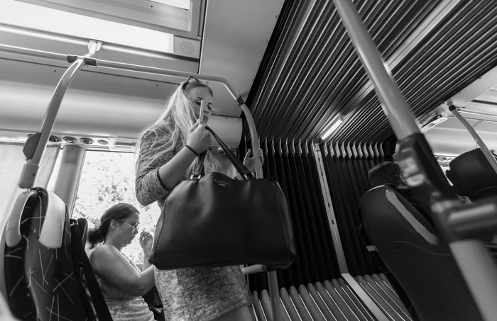 On the bus... Streetphoto_bw Bwphoto MonochromePhotography Bnw_planet Bnwmood Bnw_globe Bnw_life Bnw_demand Streetbw Bw_lover Bw_perfect Magnumphotoawards Streetphotography_bw Bnwphotography Blackandwhitephoto Bnw_europe Simply_noir_blanc Spicollective Friendsinperson Lensculturestreets Bwstyleoftheday Streetstyle Monochrome StreetLife_Award Rsa_streetview Looks Girl Bnw_drama Adults Only Adult Indoors  Only Women Lifestyles People Human Body Part
