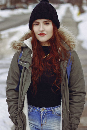 Toronto, 2019 Winter Clothing One Person Warm Clothing Front View Hairstyle Long Hair Cold Temperature Hat Beauty Young Adult Lifestyles Hair Young Women Real People Beautiful Woman Waist Up Women Leisure Activity Looking At Camera Scarf Teenager Beanie Winter Snow International Women's Day 2019 My Best Photo