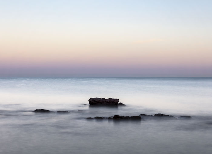 Beach Dawn Horizon Over Water No People Rock - Object Rock Formation Sea Sky Tranquil Scene Waterfront