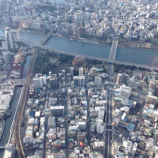 Showcase March Tokyo Sky Tree Sumidariver Birdseyeview Tokyo Japan The Architect - 2016 EyeEm Awards