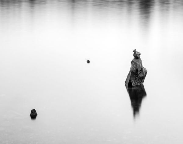 Stone lady Black & White Noir Et Blanc Pier Serenity Washington Abstract Bainbridge Island Balance Black And White Blackandwhite Long Exposure Minimalism Nature No People Reflection Rocks Rocks And Water Still Life Water Waterfront