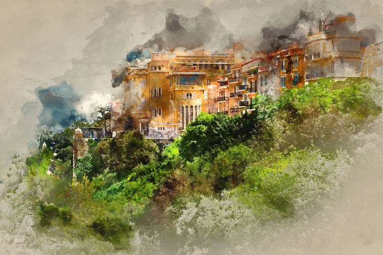 Principality of Monaco. Digital watercolor painting. Architecture Castle City Cityscape Digital Drawing Digital Paint Monaco Watercolour Building Exterior Built Structure Digital Art Digital Illustration Digital Painting Digitally Altered Digitally Generated Digitally Generated Image Europe French Riviera Illustration Outdoors Palace Principality Of Monaco Watercolor Watercolor Painting Watercolour Painting