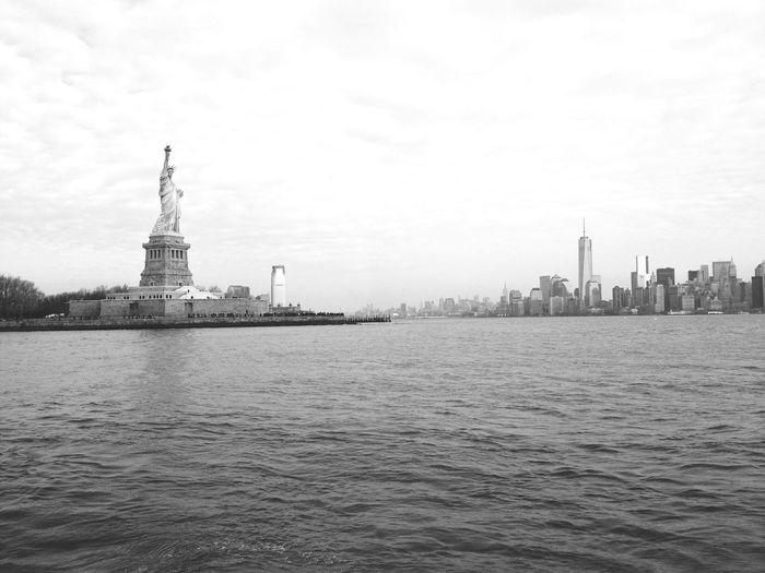 Manhattan Statue Of Liberty Manhattan Bridge Manhattan Skyline New York City New York Newyorkcity Newyork NYC NYC Street Ellis Island  NYC Photography Eye4photography  EyeEm Best Shots EyeEm EyeEm Nature Lover