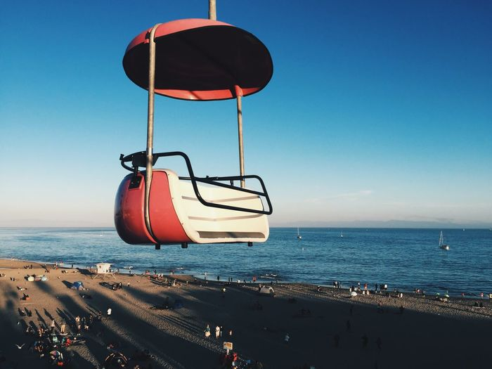 Close-Up Of Retro Ferris Wheel Above Santa Cruz Beach