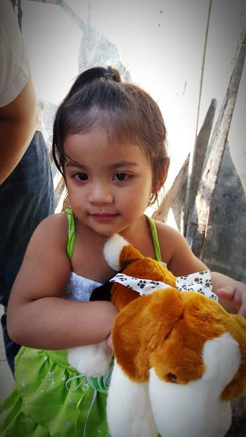 My princess 😍 (samsung s6 shot) Looking At Camera Portrait Lifestyles Leisure Activity Cute Holding Front View Person Innocence Person Mammal Day Baby Clothing