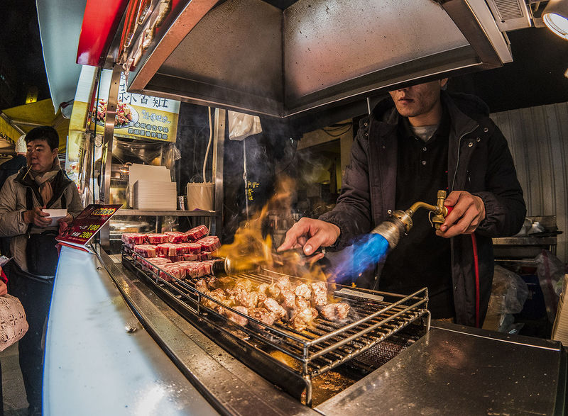just landed in taiwan and straight away went to the local street food Learn & Shoot: After Dark Food Fire Night Lights Nightlife Taiwan Street Food Taipei Beef Chargrilled Original Experiences