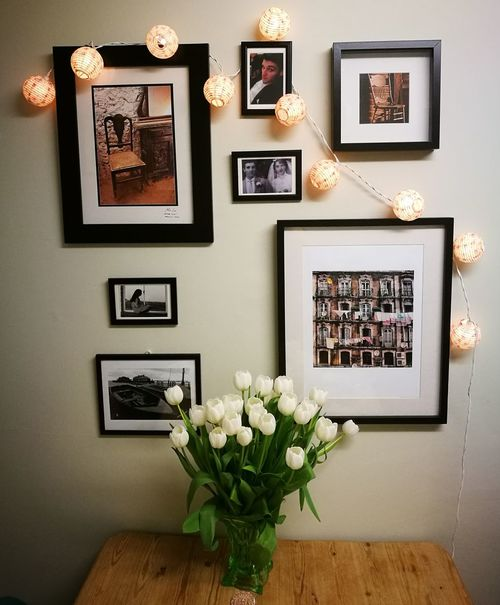 Photographs Picture Frame Home Showcase Interior Flower Photograph Indoors  Home Interior No People Bouquet Of Flowers Frames Pictures Tell A Story Place Of Heart