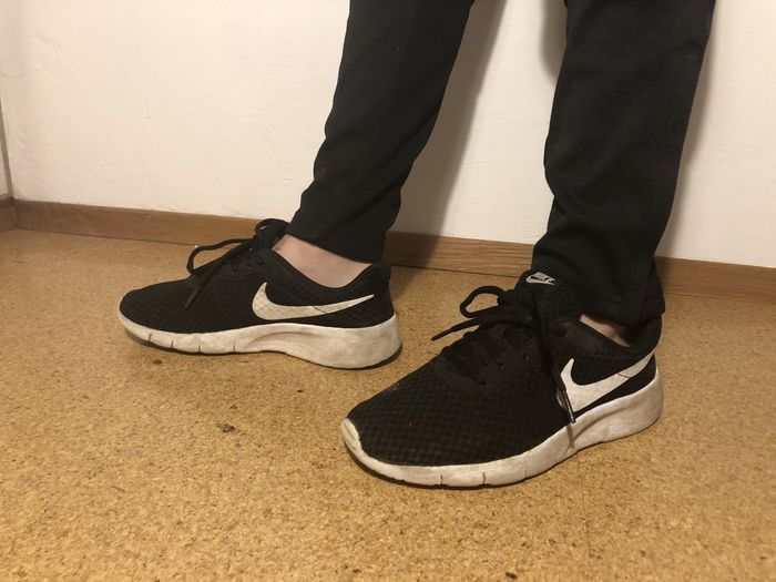 Shoe Low Section Human Leg Human Body Part Body Part One Person Standing Lifestyles Fashion Real People Flooring Indoors  Human Foot Sock Adult Men Leisure Activity Black Color Women Human Limb Leather