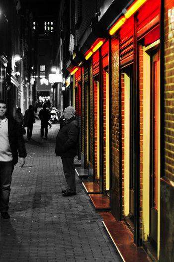Redlightdistrict Famous Place Amsterdam City Forbidden City