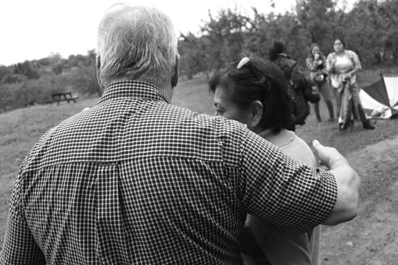 A moment before an embrace. Hanging Out Portrait Photography Moments People Check This Out Light And Shadow Taking Photos Blackandwhite Black And White Monochrome Photography People Watching